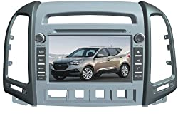 ChiLin pour HYUNDAI Santa Fe (2006-2012) 7 inch Haute tactile double-DIN Lecteur DVD & Dash Dans le systššme de navigation, GPS, Bluetooth, Radio, iPhone / iPod Controls, Commandes au volant