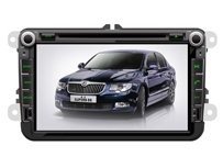 ChiLin pour Volkswagen Scirocco Haute tactile double-DIN Lecteur DVD & Dash Dans le systššme de navigation, GPS, Bluetooth, Radio, iPhone / iPod Controls, Commandes au volant