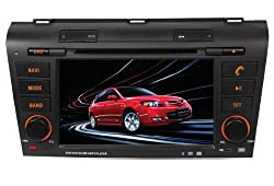 ChiLin pour (2004-2009) Mazda 3 Haute tactile double-DIN Lecteur DVD & Dash Dans le systššme de navigation, GPS, Bluetooth, Radio, iPhone / iPod Controls, Commandes au volant